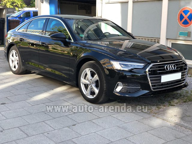 Hire and delivery to London Heathrow Airport the car Audi A6 45 TDI Quattro