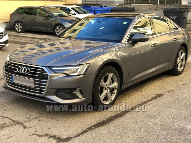 Hire and delivery to Gatwick Airport the car Audi A6 45 TDI Quattro