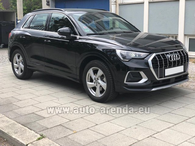 Hire and delivery to London Heathrow Airport the car Audi Q3 35 TFSI Quattro