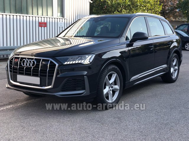 Hire and delivery to London Heathrow Airport the car Audi Q7 50 TDI Quattro Equipment S-Line (5 seats)