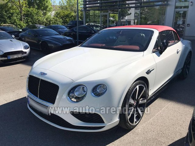 Rental Bentley Continental GTC V8 S in Great Britain