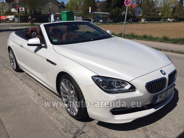Rental BMW 640 Cabrio Equipment M-Sportpaket in London