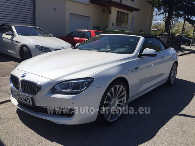 Rental BMW 640d Cabrio Equipment M-Sportpaket in London