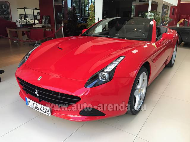 Rental Ferrari California T Convertible Red in Heathrow