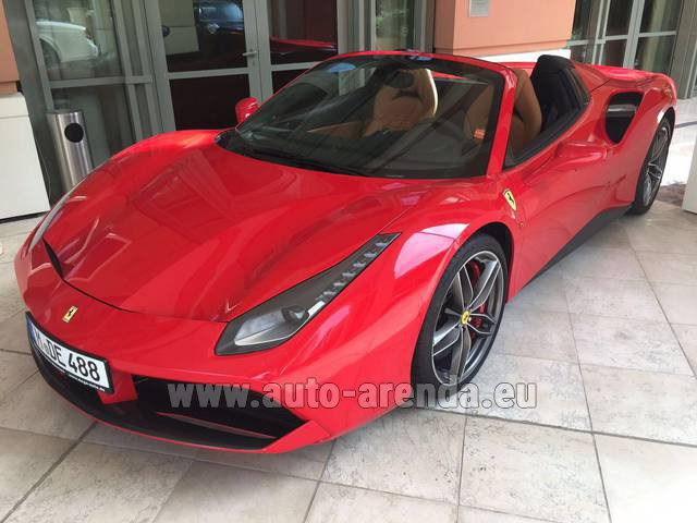 Rental Ferrari 488 GTB Spider Cabrio in Heathrow
