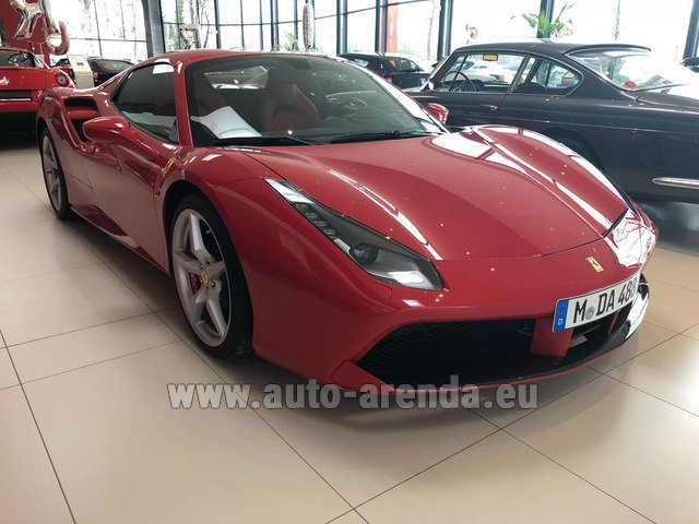 Rental Ferrari 488 Spider in Glasgow