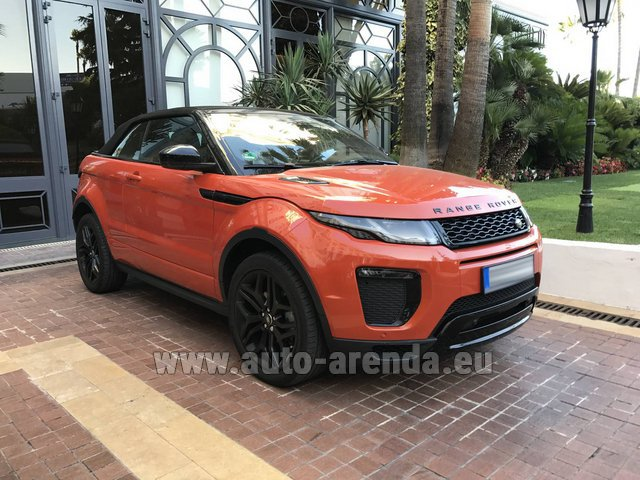 Rental Land Rover Range Rover Evoque HSE Cabrio SD4 in Gatwick