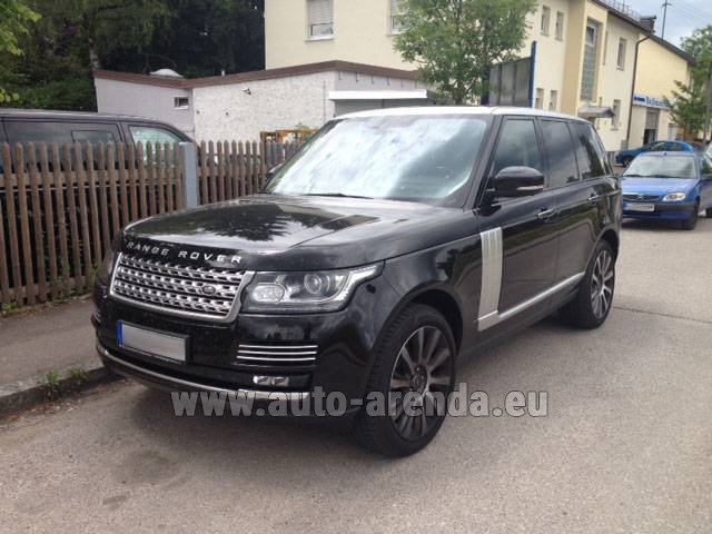 Hire and delivery to London Heathrow Airport the car Land Rover Range Rover SDV8 Autobiography