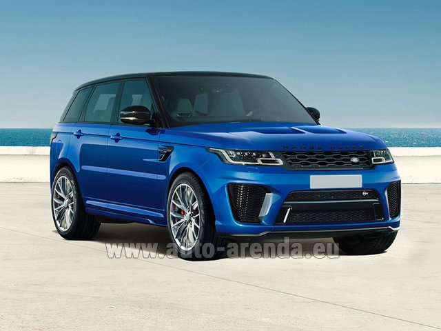 Hire and delivery to London Heathrow Airport the car Land Rover Range Rover Sport SVR V8