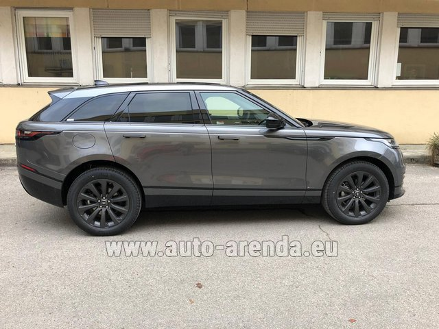 Hire and delivery to London Heathrow Airport the car Land Rover Range Rover Velar P250 SE