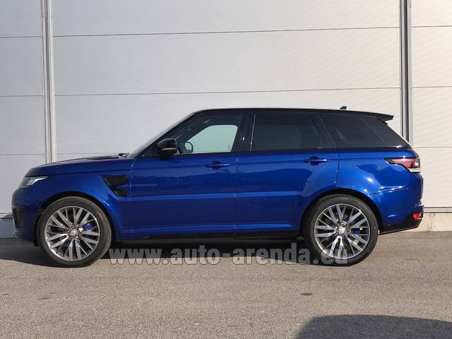 Hire and delivery to London Heathrow Airport the car Land Rover Range Sport SVR V8