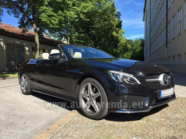 Rental Mercedes-Benz C-Class C 180 Cabrio AMG Equipment Black in London
