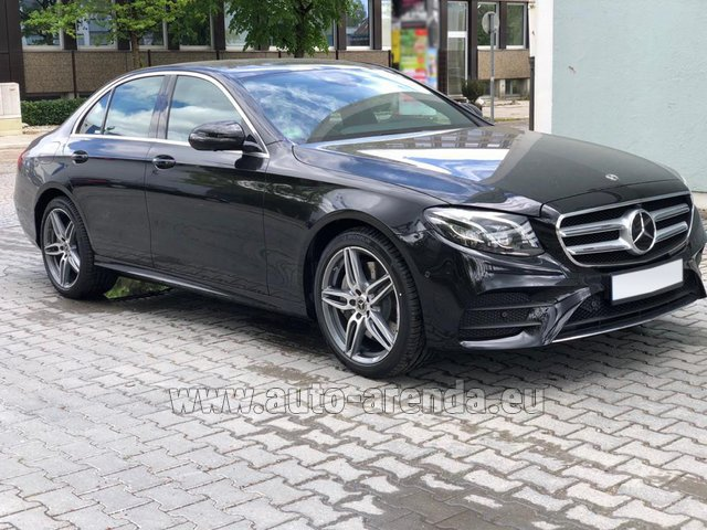 Rental Mercedes-Benz E 450 4MATIC saloon AMG equipment in Great Britain