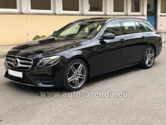 Rental Mercedes-Benz E 450 4MATIC T-Model AMG equipment in Great Britain