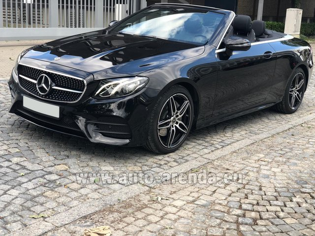 Rental Mercedes-Benz E-Class E220d Cabriolet AMG equipment in Great Britain