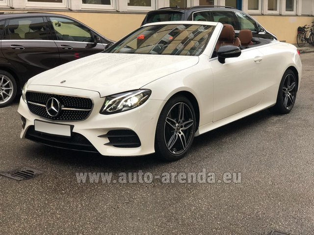 Rental Mercedes-Benz E-Class E300d Cabriolet diesel AMG equipment in Great Britain