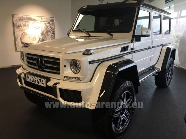 Rental Mercedes-Benz G 500 4x4 White in Glasgow
