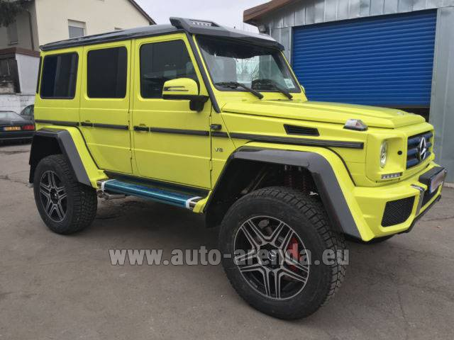 Rental Mercedes-Benz G 500 4x4 Yellow in Glasgow