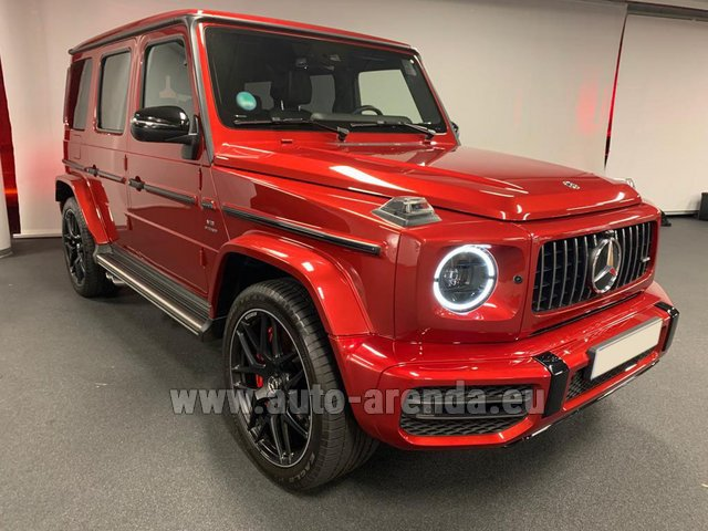 Hire and delivery to London Heathrow Airport the car Mercedes-Benz G 63 AMG biturbo