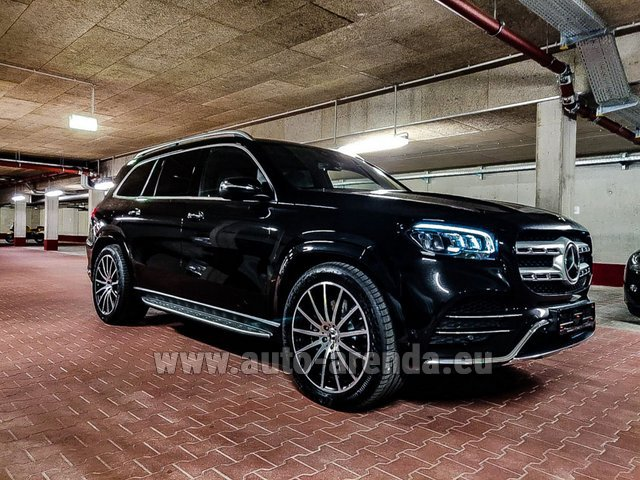 Hire and delivery to London Heathrow Airport the car Mercedes-Benz GLS 400d 4MATIC BlueTEC equipment AMG