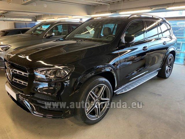 Hire and delivery to London Heathrow Airport the car Mercedes-Benz GLS 400d BlueTEC 4MATIC equipment AMG