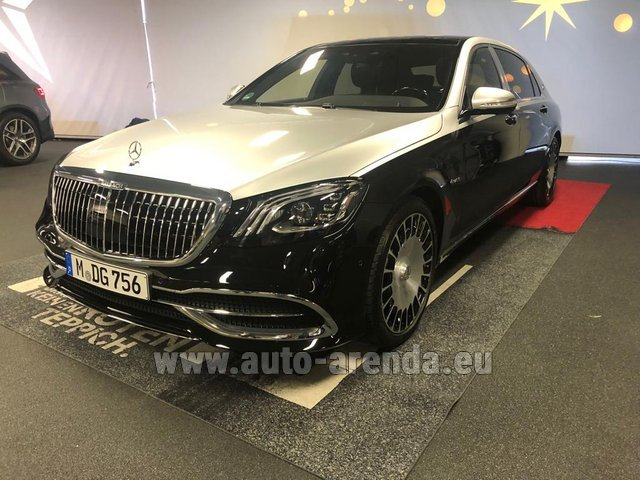 Rental Maybach S 560 4MATIC AMG equipment Metallic and Black in London