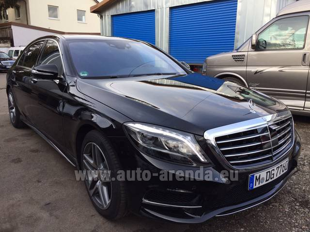 Rental Mercedes-Benz S 350 L BlueTEC AMG Black in Luton