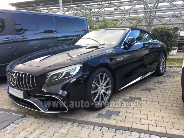 Rental Mercedes-Benz S 63 AMG Cabriolet V8 BITURBO 4MATIC+ in Glasgow