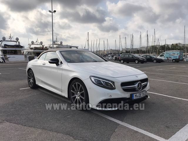 Rental Mercedes-Benz S 63 Cabrio AMG in Heathrow