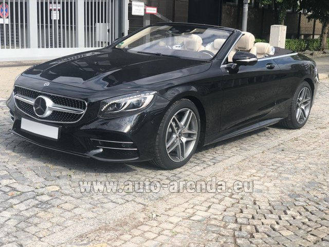 Rental Mercedes-Benz S-Class S 560 Cabriolet 4Matic AMG equipment in Great Britain