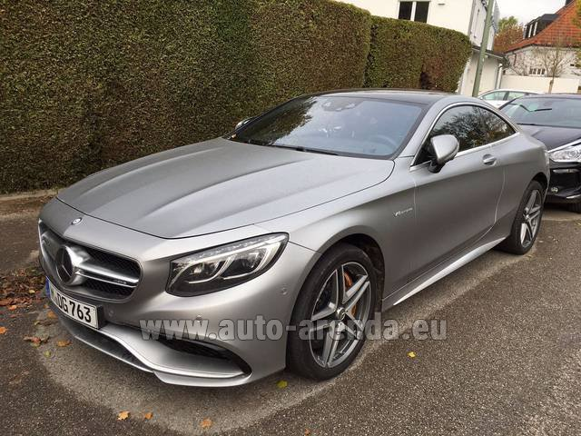 Rental Mercedes-Benz S-Class S63 AMG Coupe in Glasgow