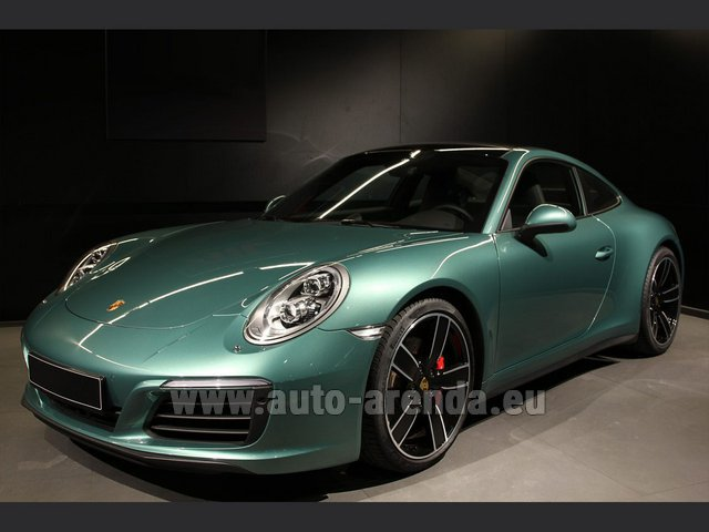 Rental Porsche 911 991 4S Racinggreen Individual Sport Chrono in Great Britain