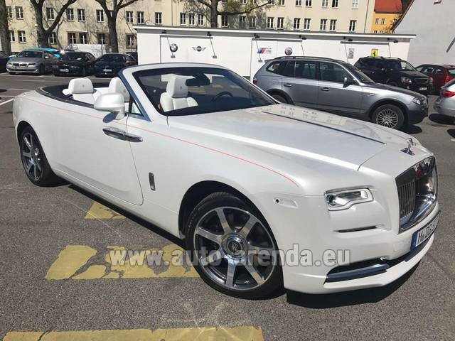 Rental Rolls-Royce Dawn in Glasgow