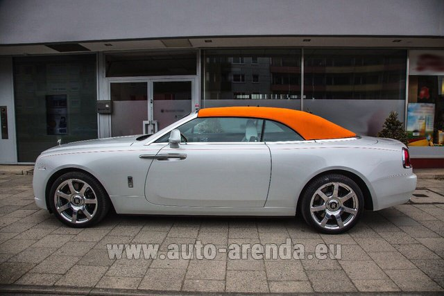 Rental Rolls-Royce Dawn White in Glasgow