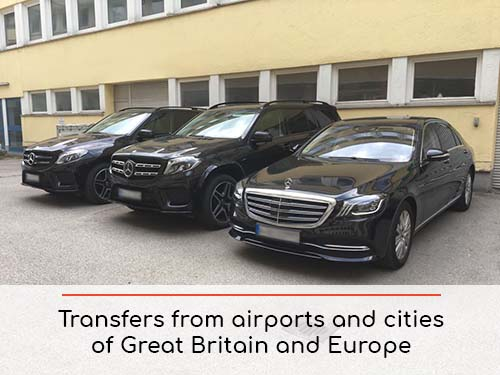 Transfers from airports and cities in Great Britain and Europe | Car rental with driver